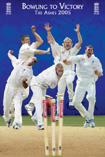 """Bowling to Victory"" (The Ashes 2005) - Pyramid Posters"