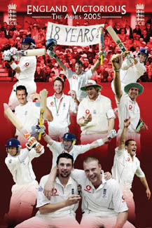 "Cricket ""England Victorious"" (The Ashes 2005) Championship Commemorative Poster - Pyramid Posters"