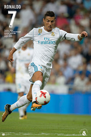 "Cristiano Ronaldo ""Airborne"" Real Madrid CF Official La Liga Football Action Poster - Grupo Erik (Spain)"