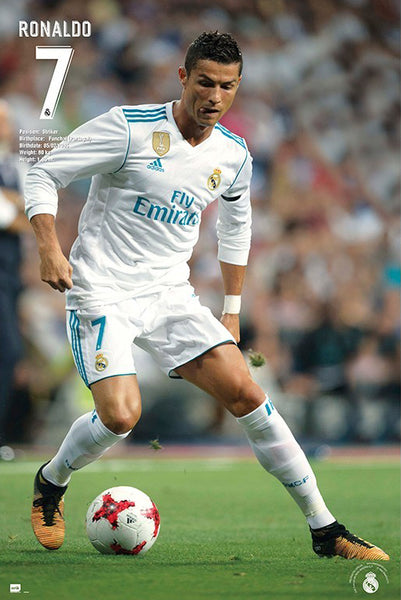 "Cristiano Ronaldo ""Step-Over"" Real Madrid CF Official La Liga Football Action Poster - Grupo Erik (Spain)"