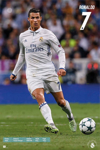 "Cristiano Ronaldo ""Match Night"" Real Madrid CF Official La Liga Football Action Poster - Grupo Erik (Spain)"