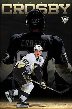 "Sidney Crosby ""Superstar"" Pittsburgh Penguins NHL Hockey Poster - Costacos 2013"