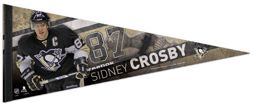 "Sidney Crosby ""Action"" Pittsburgh Penguins Premium Felt Collector's Pennant - Wincraft 2013"