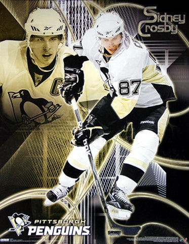 "Sidney Crosby ""Matrix"" Pittsburgh Penguins Premium 16x20 Poster - Costacos Sports"