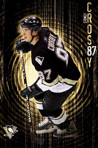 "Sidney Crosby ""The Zone"" (Rookie Year) Pittsburgh Penguins Poster - Costacos 2005"
