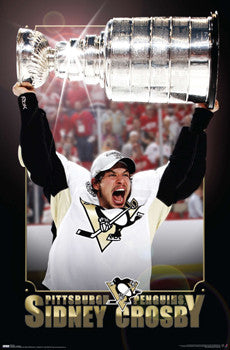 "Sidney Crosby ""Holy Grail"" 2009 Stanley Cup Poster - Costacos Sports"