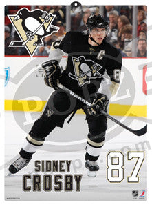 "Sidney Crosby ""POPZ"" 3D Formed Plastic Poster (Large)"