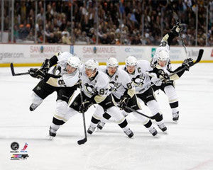 Sidney Crosby Slapshot Multi-Exposure Pittsburgh Penguins Premium Poster Print - Photofile Inc.