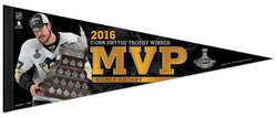 Sidney Crosby 2016 Stanley Cup Playoffs MVP Pittsburgh Penguins Premium Felt Collector's Pennant