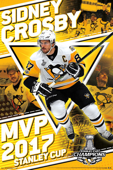 Sidney Crosby 2017 Stanley Cup Finals MVP Pittsburgh Penguins Commemorative Poster