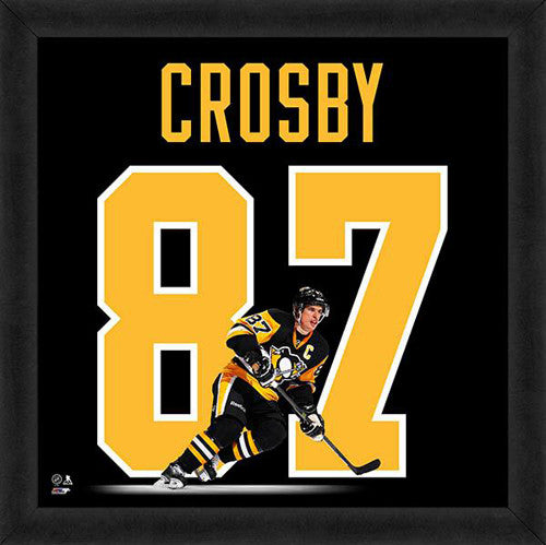 "Sidney Crosby ""Number 87"" Pittsburgh Penguins FRAMED 20x20 UNIFRAME PRINT - Photofile"