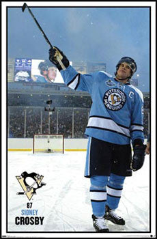 Sidney Crosby 2008 NHL Winter Classic Pittsburgh Penguins Poster - Costacos Sports