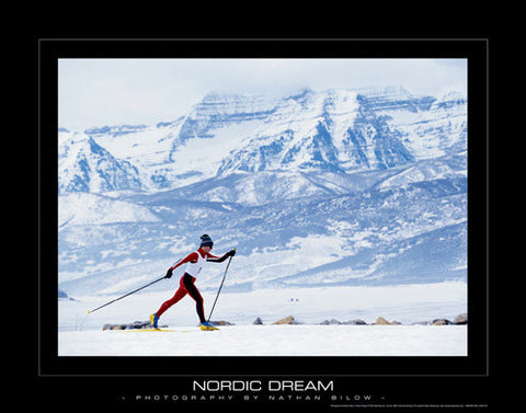 "Cross Country Skiing ""Nordic Dream"" Motivational Poster Print - PSA Publishing"