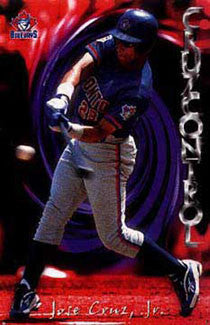 "Jose Cruz Jr. ""Cruz Control"" Toronto Blue Jays Poster - Costacos 1998"
