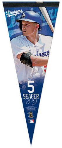Corey Seager L.A. Dodgers Signature Series Premium Felt Collector's Pennant - Wincraft 2017