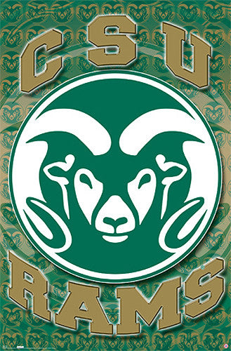 Colorado State Rams Official NCAA Team Logo Poster - Costacos Sports