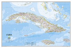 Map of CUBA National Geographic Classic Edition 24x36 Wall Map Poster - NG Maps