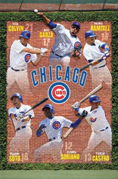 "Chicago Cubs ""Ivy Stars"" (2011) Poster - Costacos Sports"