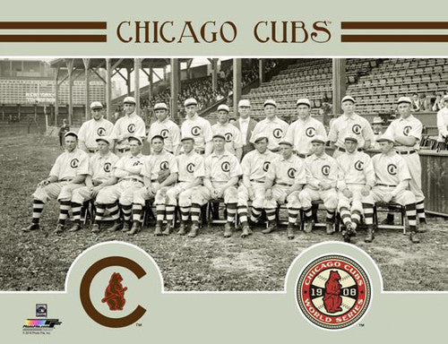 Chicago Cubs 1908 World Series Champions Team Portrait Premium Poster Print - Photofile Inc.