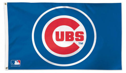 Chicago Cubs MLB Baseball Official 3'x5' Deluxe-Edition Team Flag - Wincraft Inc.