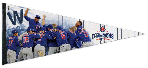 Chicago Cubs 2016 World Series CELEBRATION Premium 17x40 XL Felt Pennant - Wincraft