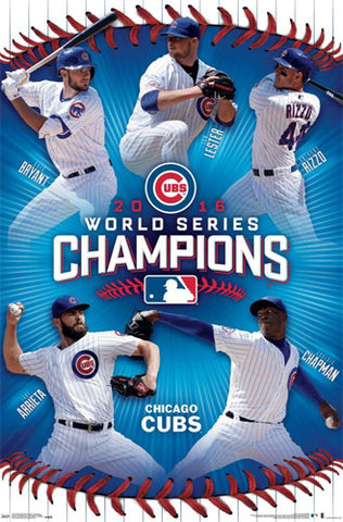 Chicago Cubs 2016 World Series CHAMPIONS 5-Player Commemorative Poster - Trends Int'l.