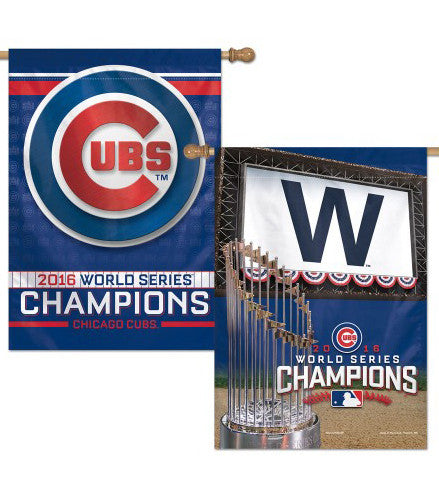 Chicago Cubs 2016 World Series Champions 2-Sided Commemorative Wall Banner - Wincraft