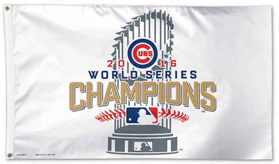 Chicago Cubs 2016 World Series Champions Deluxe-Edition 3'x5' FLAG - Wincraft