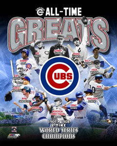 "Chicago Cubs ""All-Time Greats"" (14 Legends) Premium Poster Print - Photofile Inc."