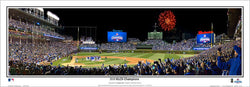 Chicago Cubs Wrigley Field Celebration (2016 NLCS Victory) Panoramic Poster Print - Everlasting
