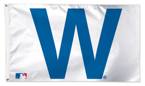 "Chicago Cubs Official ""W"" Cubs Win Deluxe-Edition Premium 3'x5' MLB Flag - Wincraft Inc."