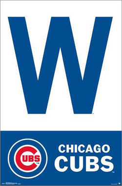 "Chicago Cubs ""W-Style"" Official MLB Baseball Team Logo Poster - Trends 2016"
