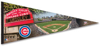 Chicago Cubs Wrigley Field Oversized Premium Pennant