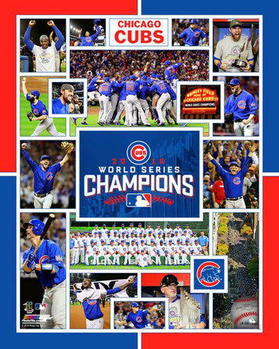 Chicago Cubs 2016 World Series Championship Collage Premium Poster Print - Photofile 16x20