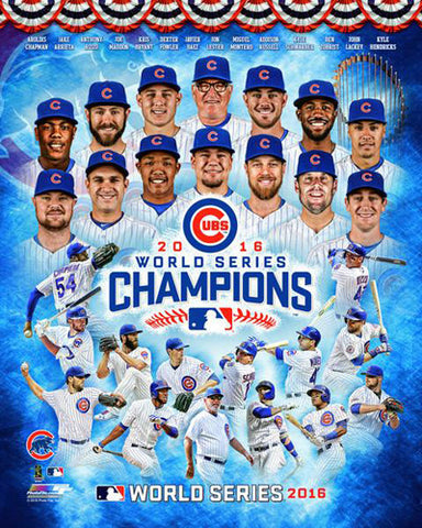 Chicago Cubs 2016 World Series Champions 14-Stars Premium Poster Print - Photofile Inc.