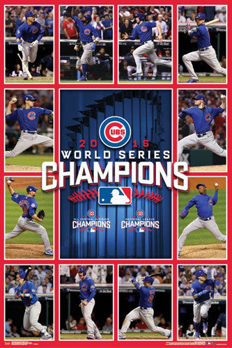 "Chicago Cubs 2016 World Series ""Game 7 Heroes"" Championship Commemorative Poster - Trends"