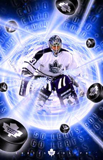 "Curtis Joseph ""Puckstopper"" Toronto Maple Leafs Poster - Costacos 2001"