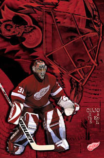 "Curtis Joseph ""Intensity"" Detroit Red Wings NHL Goalie Action Poster - Costacos 2002"