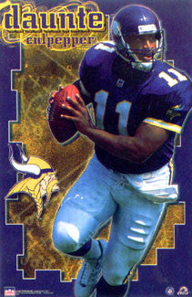 "Daunte Culpepper ""Action"" Minnesota Vikings Poster - Starline 2001"