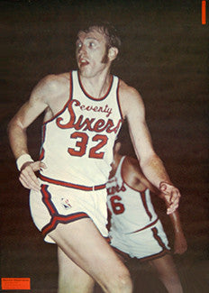 Billy Cunningham Philadelphia 76ers Sports Illustrated NBA Poster - Renselaar 1971