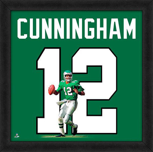 "Randall Cunningham ""Number 12"" Philadelphia Eagles NFL FRAMED 20x20 UNIFRAME PRINT - Photofile"