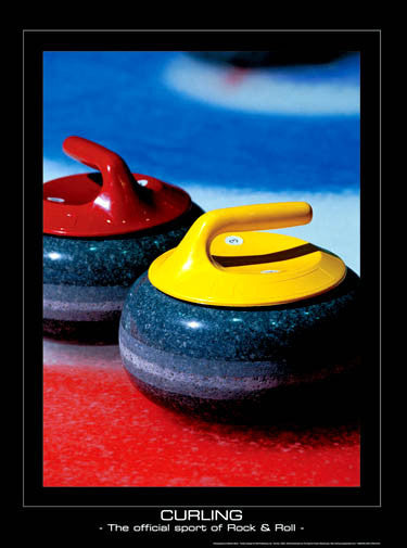 Curling, The Official Sport of Rock & Roll Premium Poster Print - SportsPosterWarehouse.com
