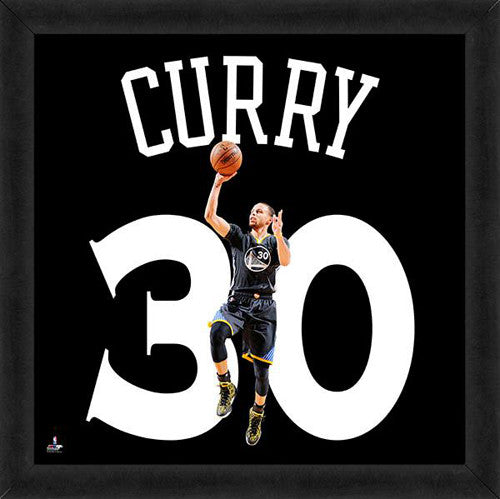 "Stephen Curry ""30 In Black"" Golden State Warriors FRAMED 20x20 UNIFRAME PRINT - Photofile"