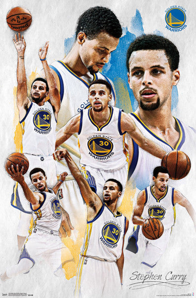 "Stephen Curry ""Masterpiece"" Golden State Warriors Basketball Poster - Trends 2016"
