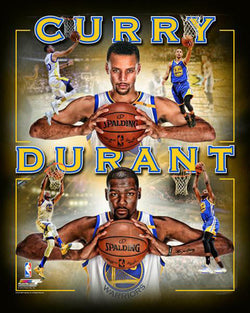 "Stephen Curry and Kevin Durant ""Warriors"" Golden State Warriors Premium Poster - Photofile 16x20"