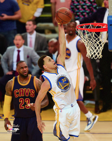 "Stephen Curry ""Finals Slam"" (Outshone LeBron) Golden State Warriors Premium Poster - Photofile Inc."