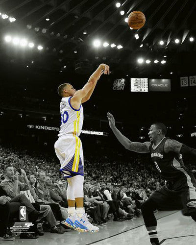 "Stephen Curry ""Spotlight"" Golden State Warriors Premium NFL Poster Print - Photofile 16x20"