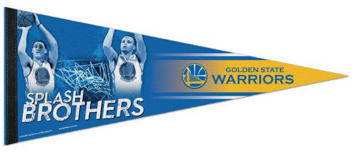 "Stephen Curry and Klay Thompson ""Splash Brothers"" Golden State Warriors Premium Felt Pennant"