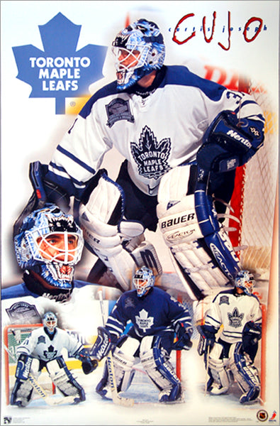 "Curtis Joseph ""Masterpiece"" Toronto Maple Leafs Goalie Action Poster - Norman James Corp. 1999"
