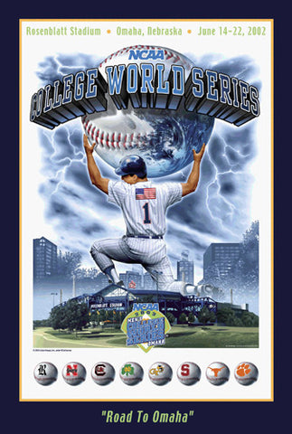 NCAA Baseball College World Series 2002 Official Event Poster- Action Images